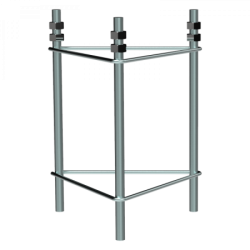 Herraje empotrable torre 180 para base f