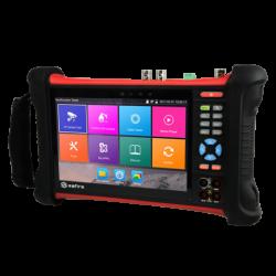"""Tester CCTV multifuncional HDTVI, HDCVI, AHD, analógicas CVBS e IP - Pantalla LCD color 7"""" táctil - Resolución 1920x1200"""