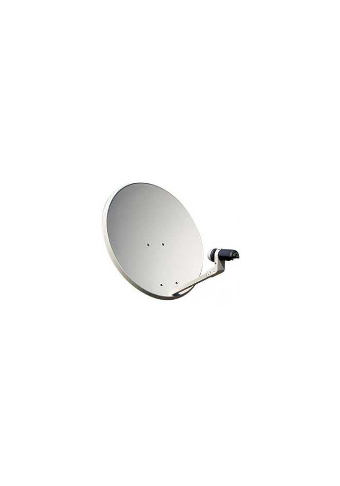 KIT ANTENA PARABOLICA TV SATELITE 60CM CON LNB Y SOPORTE DE PARED