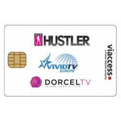 TARJETA XXX DORCEL TV - VIVID TV EUROPE - HUSTLER TV - ASTRA 19ºE